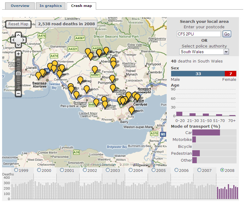 BBC Interactive map: A decade of road deaths