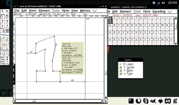 FontForge — screenshot