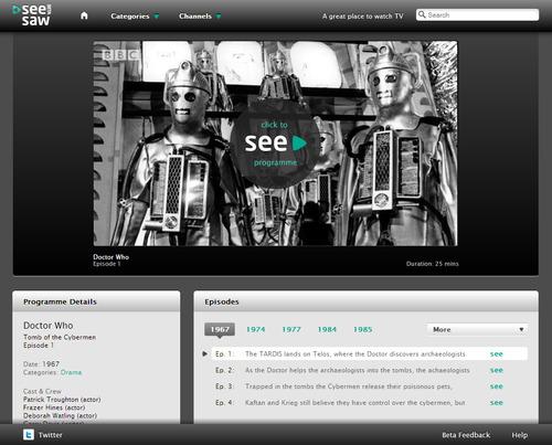 SeeSaw: Online TV service in beta