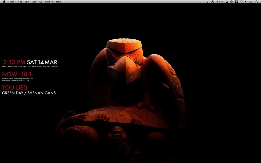 GeekTool: A system monitor for Mac OS X | halfblog net