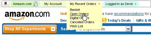Breadcrumb navigation in the URL bar