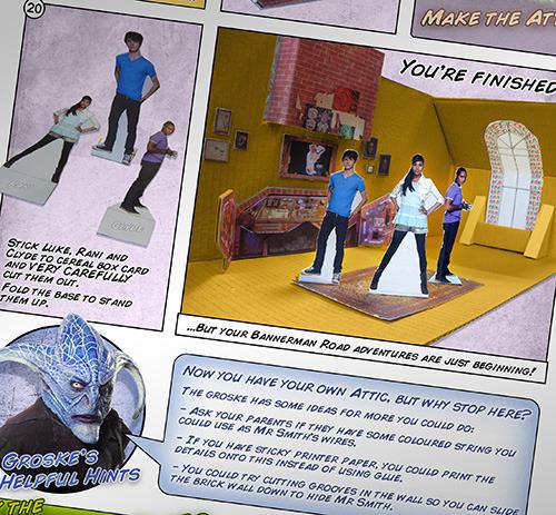 Sarah Jane Adventures — 'Make The Attic' instructions