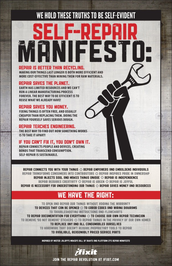 The Self-Repair Manifesto