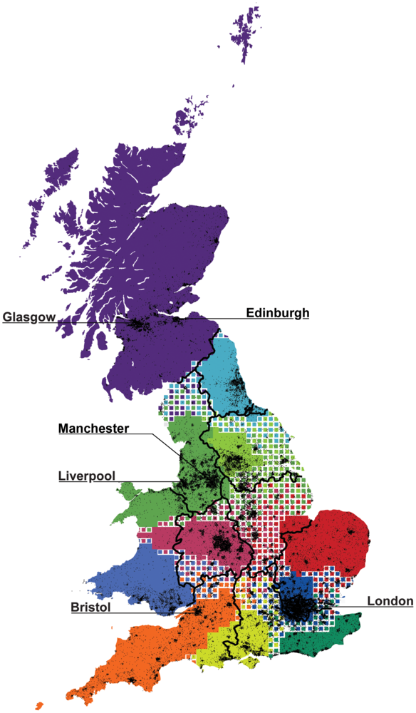 The core regions of Britain