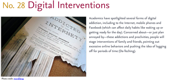 Predictions for 2011 - 28: Digital Interventions