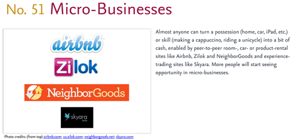 Predictions for 2011 - 51: Micro-Business