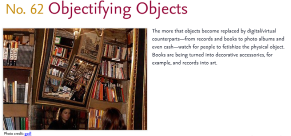 Predictions for 2011 - 62: Objectifying Objects