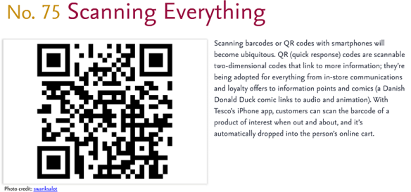 Predictions for 2011 - 75: Scanning Everything