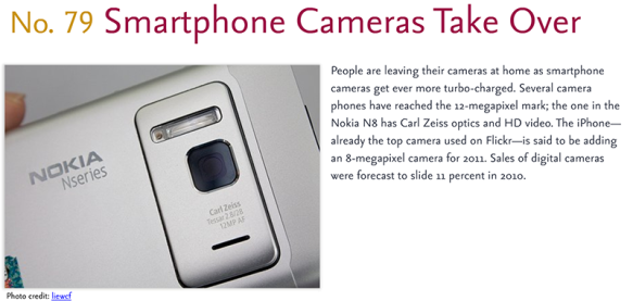 Predictions for 2011 - 79: Smartphone Cameras Take Over