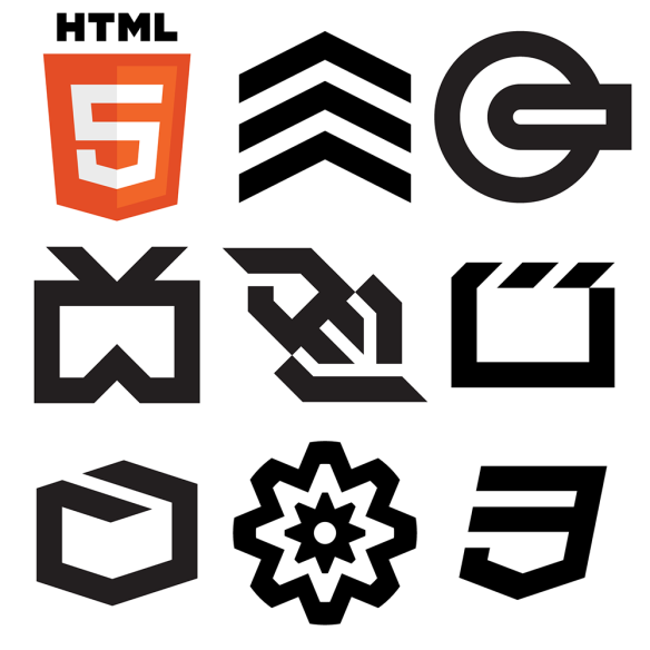 HTML5 logos and icons