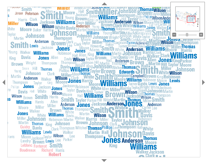 Map Of London Surnames And State Of The Union Infographics - Interactive us surnames map