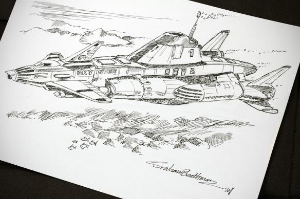 Graham Bleathman Sky Diver sketch