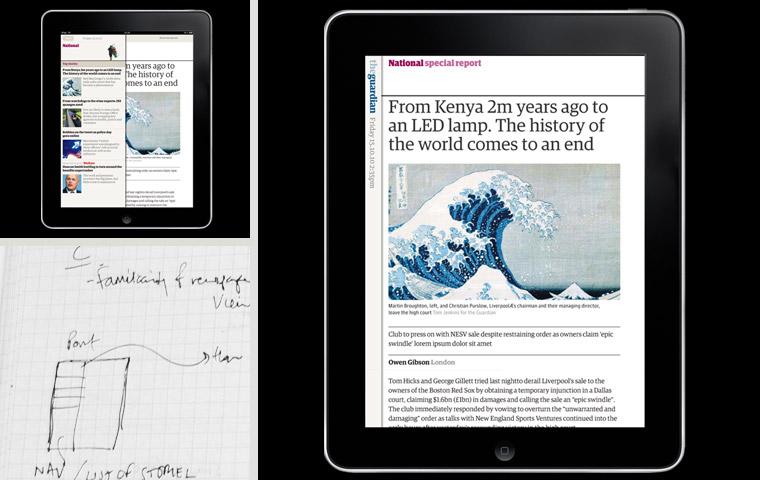 Guardian iPad edition, design process