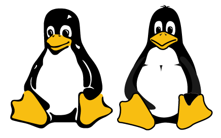 Two variations of Tux