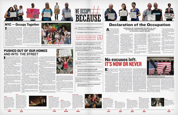 The Occupied Wall Street Journal, centre spread