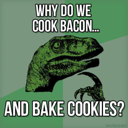 Philosoraptor on cookery