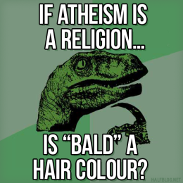 Philosoraptor on atheism
