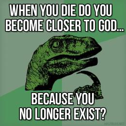 Philosoraptor on God