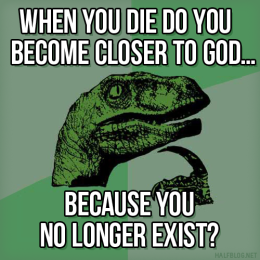 Philosoraptor on God