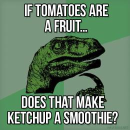 Philosoraptor on condiments