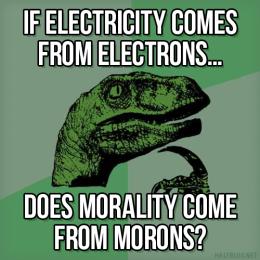 Philosoraptor on Morons