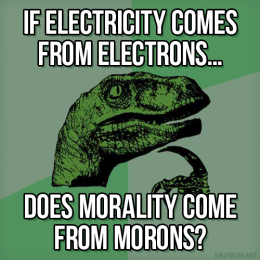 Philosoraptor on Morons