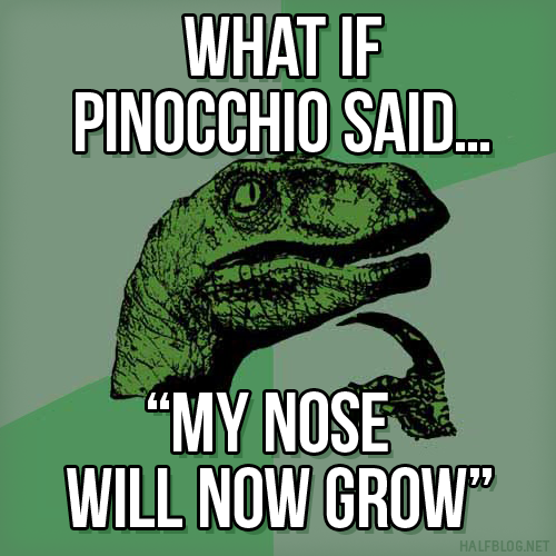 Philosoraptor on the Pinocchio Paradox