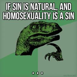 Philosoraptor on sin