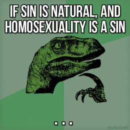 Philosoraptor on sin