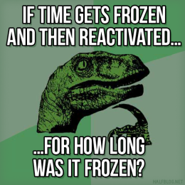 Philosoraptor on time