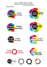 Inner Worlds, Outer Worlds conference logo design sketches