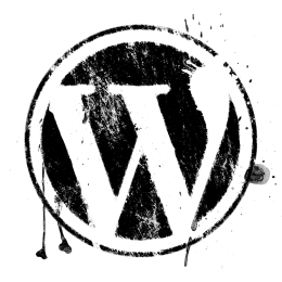 Spatter effect WordPress logo