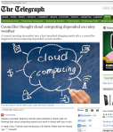 Screenshot of The Telegraph's article 'Councillor thought cloud computing depended on rainy weather'
