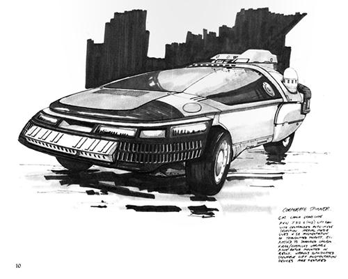 Blade Runner Sketchbook - Corporate Spinner