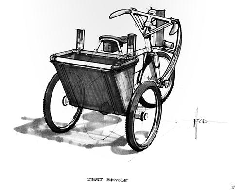Blade Runner Sketchbook - Street bike