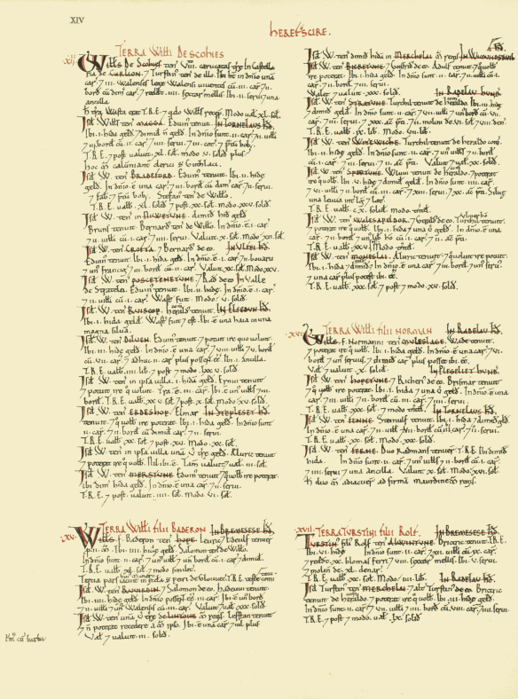Domesday Book, page 14
