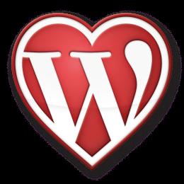 WordPress heart logo
