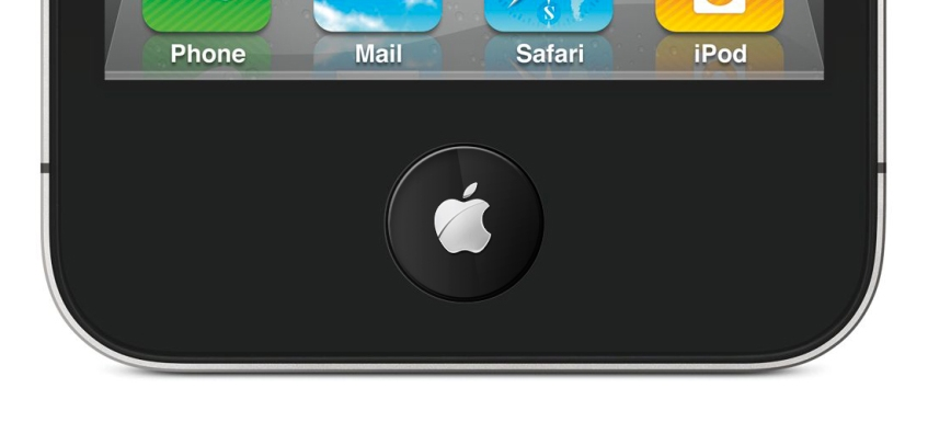 iPhone LCD home button: Apple logo