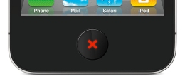 iPhone LCD home button: Cancel