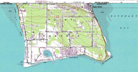 Point Roberts USGS map