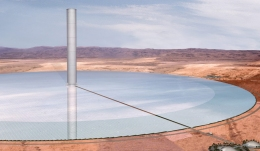 Solar Updraft Tower — artist's impression