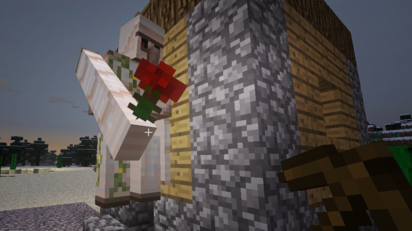 Iron Golem offering me a rose