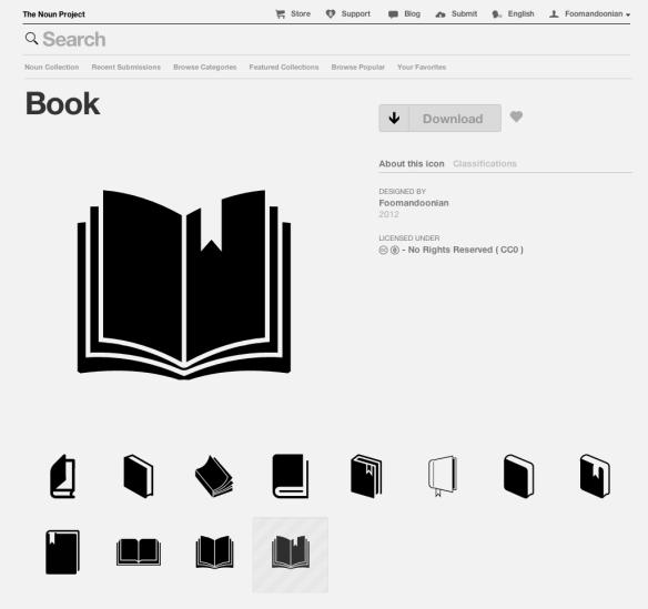Book icon — The Noun Project