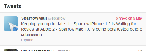 Pinned tweet mockup