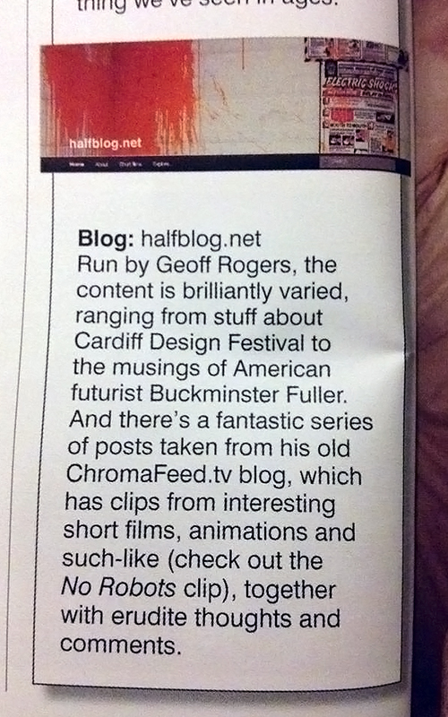 Cardiff Life excerpt about halfblog.net