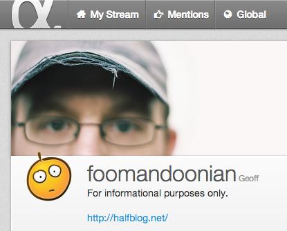 @foomandoonian on App.net
