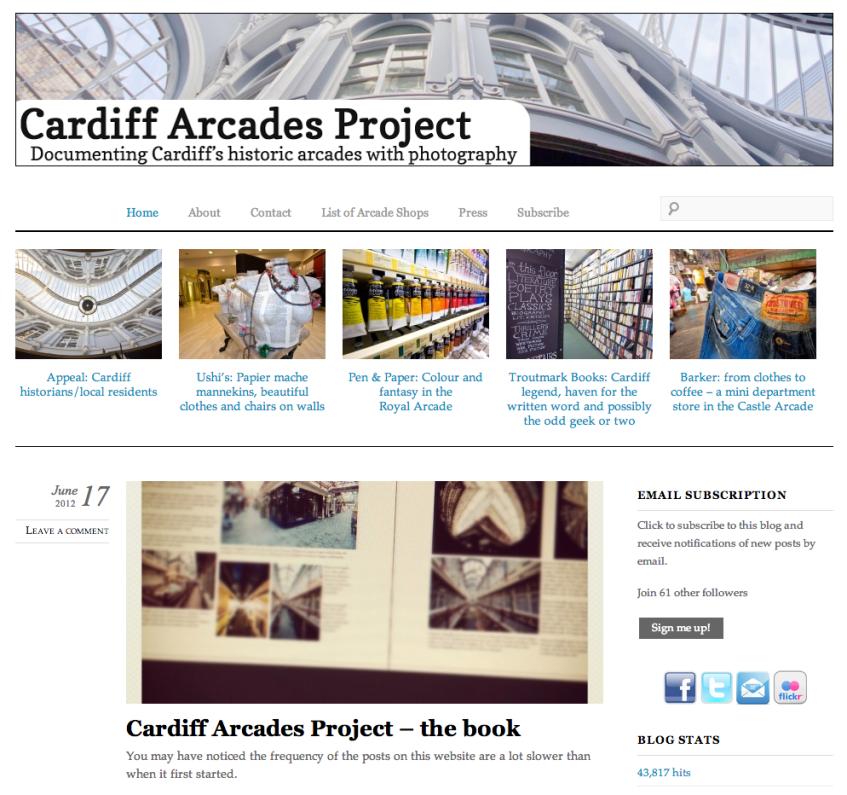 Cardiff Arcades Project