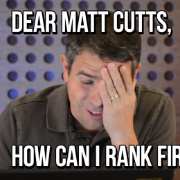 Dear Matt Cutts