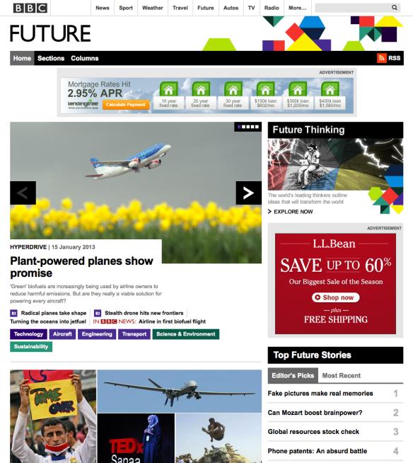 Ad-supported BBC Future