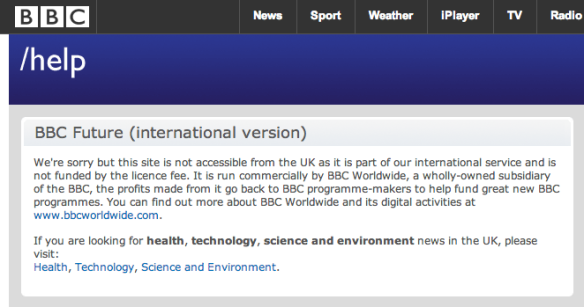 BBC Help page